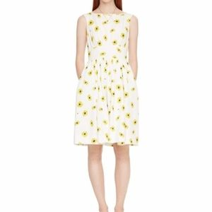 Kate Spade white and yellow daisy dress - size 2